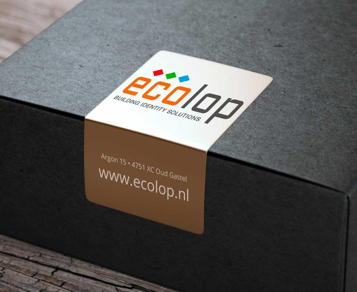 ECOLOP Adresstickers, Bedrijfsstickers