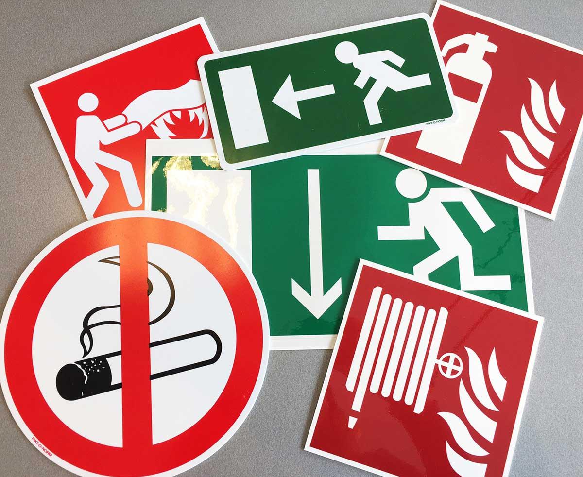 Veiligheidsstickers, Bedrijfsstickers